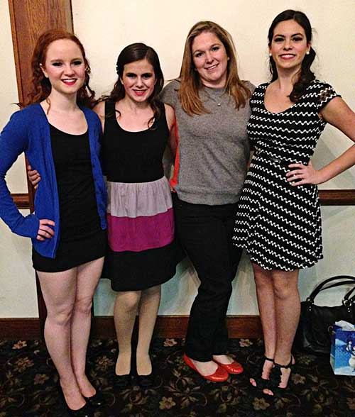 Emmaleigh Diecidue, Kristen Laquidara, Teacher Renee O'Brien and Katie Laquidara.