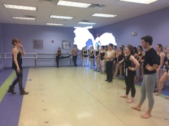 Debbi Gould teaching Advanced Jazz Class at Dance Masters of New England Workshop, January 2015