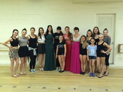 Some other members of the SGDC Company cameto the studio to see the girls all dressed up for Prom
