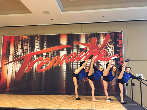 Sally Gould Dancers Pose at Tremaine Convention