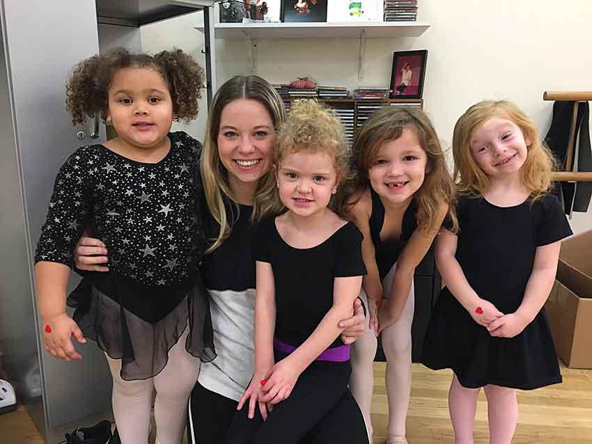Miss Meg at the Sally Gould Dance Center
